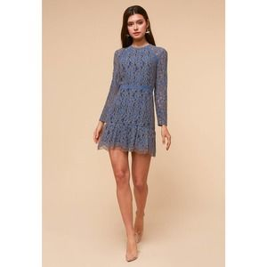 NWT Adelyn Rae Long Sleeve Lace Cocktail Dress MED